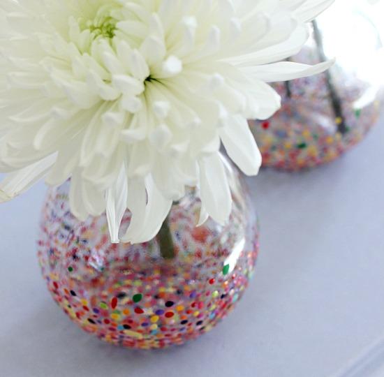 Hi Sugarplum Diy Anthropologie Style Confetti Vases