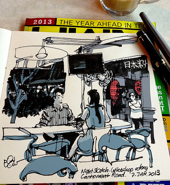 Coffeeshop along Cantonment Road