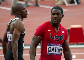 Justin Gatlin-Men's 100m Final-London 2012 Olympics