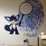 "Fox IT mural in ""Het Vossenhol"" (work in progress)"