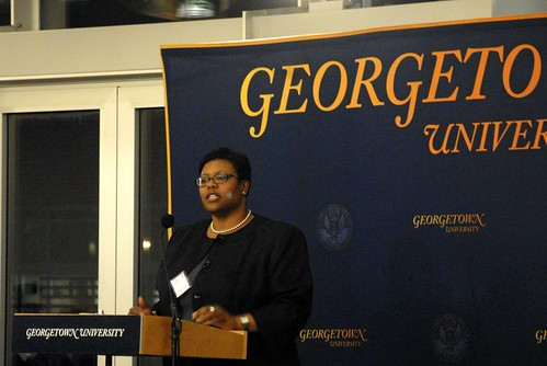 Henderson speaking at Gtown