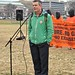 Close Guantánamo: Andy Worthington in front of the White House