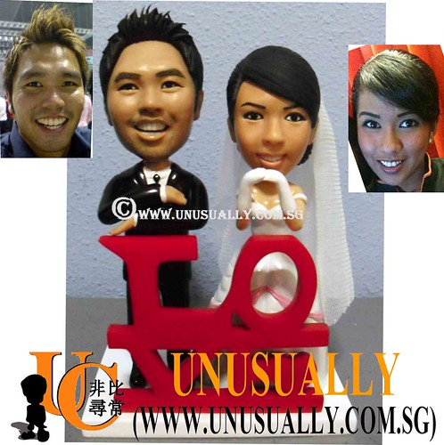 Personalized Lovely Wedding Couple Figurines - © www.unusually.com.sg