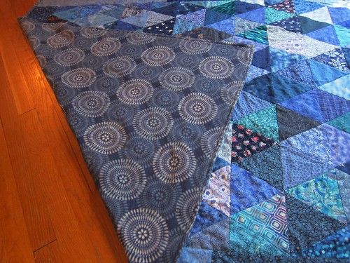 Quilt backed with fleece