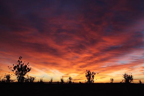 Sunrise Désert Maroc - Image Photo Picture Photography - Ciel Sky - Nuages rouges - Red clouds