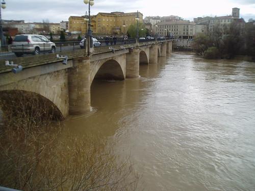 Río Ebro a su paso por Logroño enero 2013