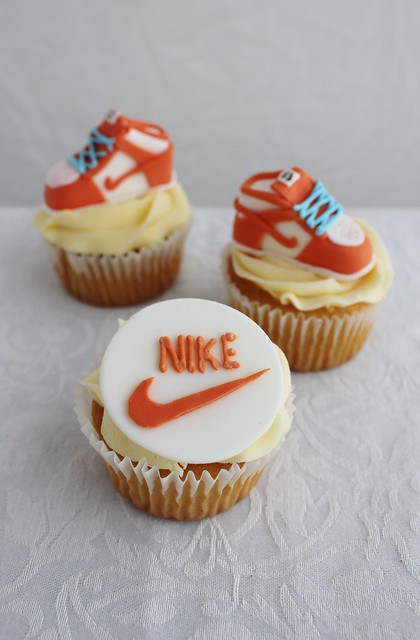 Nike Shoe Cupcakes