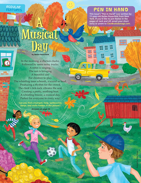 A Musical Day - Magazine illustration