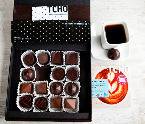 TCHO Chocolate bonbons and Mokaccino Serious Milk Bar