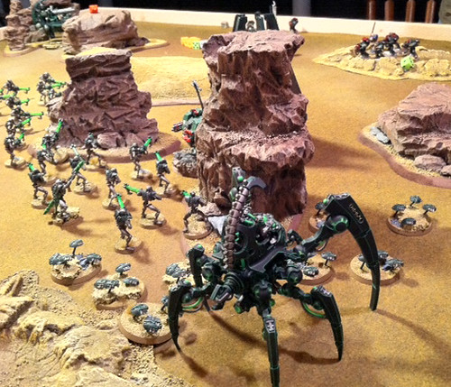 Necrons vs. Dark Angels