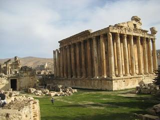 The Temple of Bacchus in Baalbek in 2010.