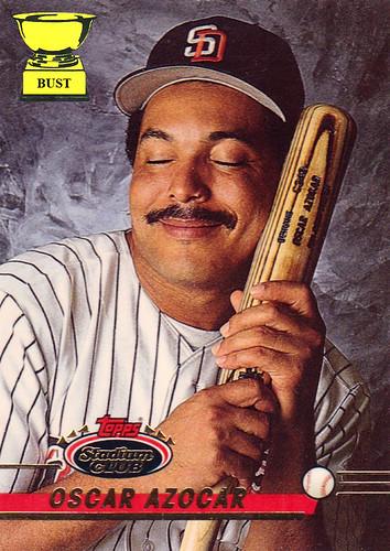 Baseball Card Bust Oscar Azocar 1993 Topps Stadium Club