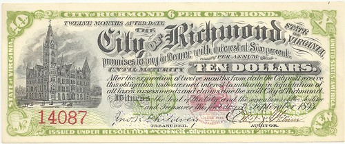 1893 Richmond VA scrip front