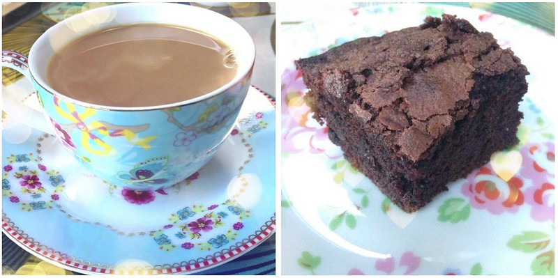 tea & brownie