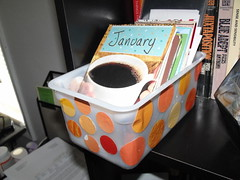 Orange Polka Dot Journal Box
