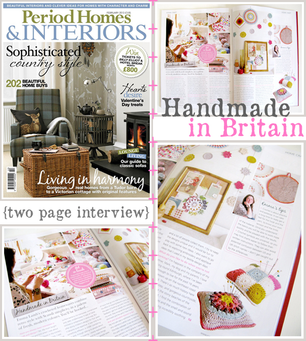 A lovely two page interview by Katherine Sorrell in Period Homes & Interiors, February 2013