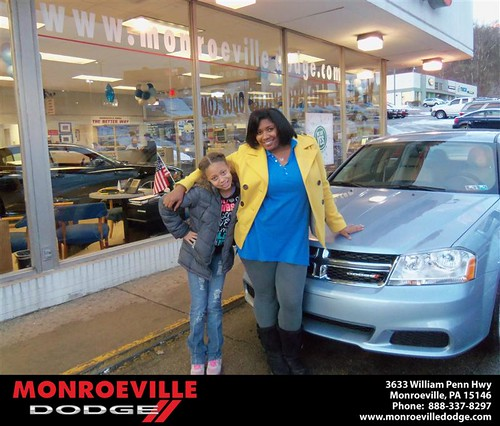 Congratulations to Dionne Epps on the 2013 Dodge Avenger by Monroeville Dodge