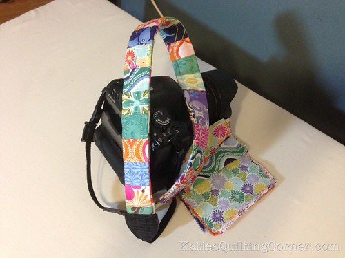 Quilted camera strap