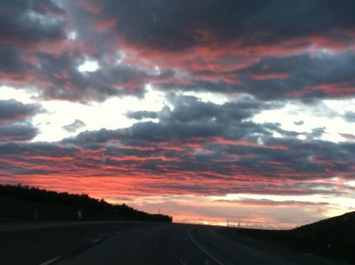CO to WA Roadtrip: Wyoming Sunset