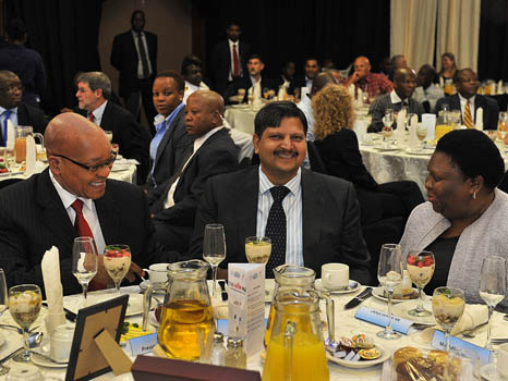 President Jacbo Zuma attends The New Age and SABC Business briefing, 16 Mar 2012