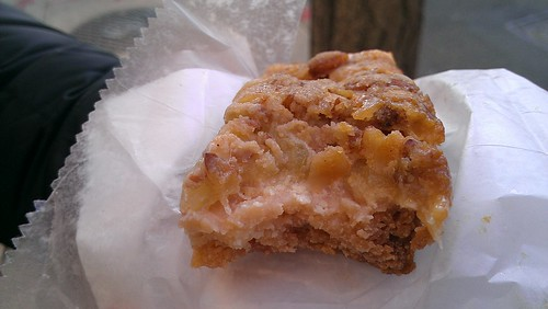 Apple custard bar, nook bakery, philadelphia