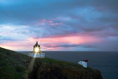 St. Abbs Head Lighthouse at sunset