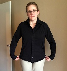 Belted Blouse Refashion - Before