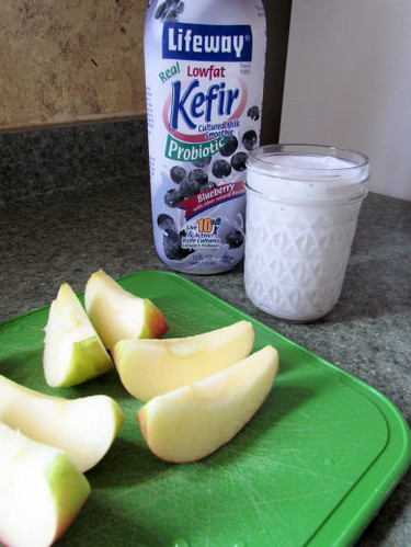 Honeycrisp Apple and Blueberry Kefir