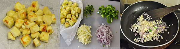 How to make chilli paneer - Step2