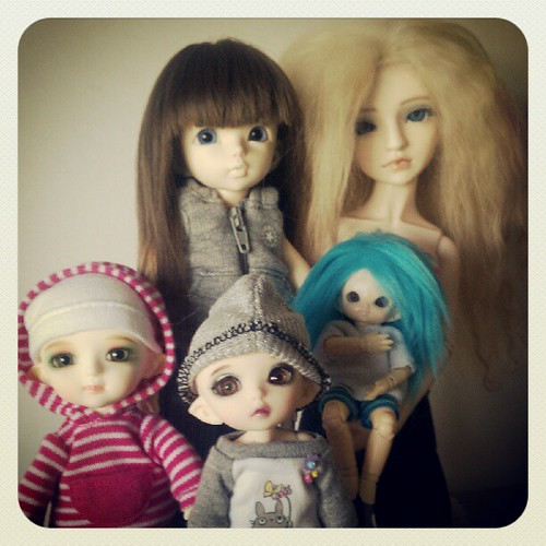 Current BJD family photo Oct. 2012 by Among the Dolls