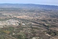 vue vers Pertuis depuis Meyrargues