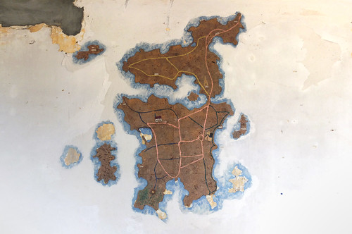 map painting of the island inside chapelle st-michel Île-de-bréhat