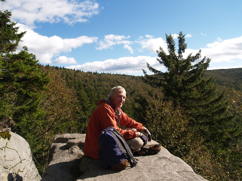 Relaxing in the Sun at the Geiger Point Overlook on the Devil's Path