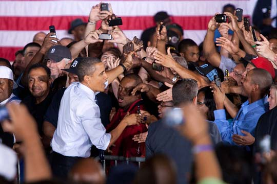 President Obama Visits Detroit-Hamtramck Assembly Plant