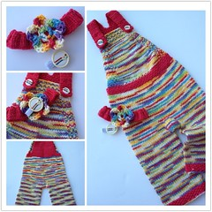 :: Vanilla Rainbow :: Jungle Gym Overalls 6-9mos