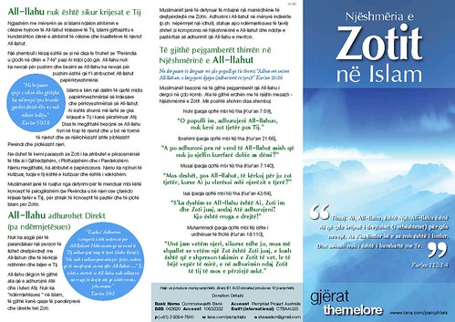 A pamphlet translated into Albanian