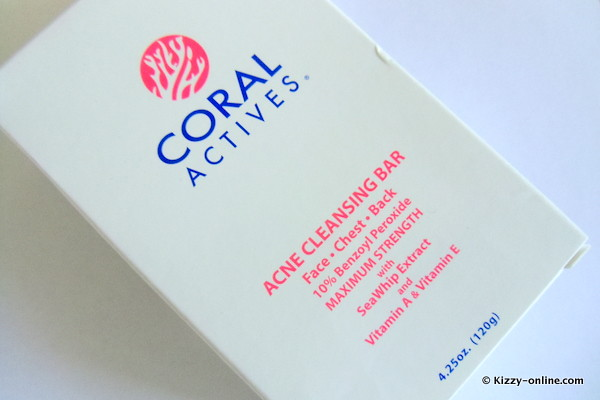 Coral Actives Soap Treatment Bar Benzoyl Peroxide Acne Back Chest