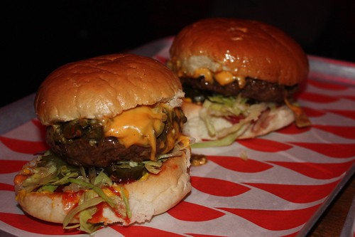 Green chilli burgers, Meat Liquor