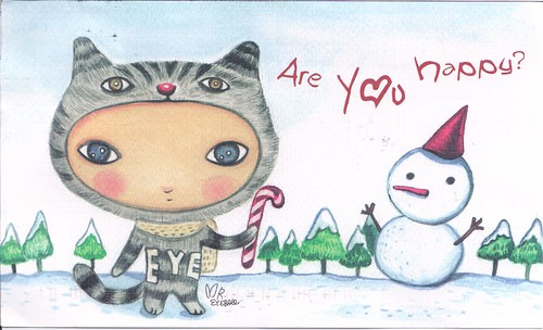 Big Eye Christmas Card