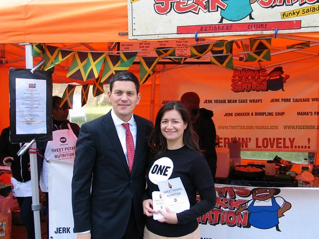 ONE's Saira O'Mallie with David Miliband MP