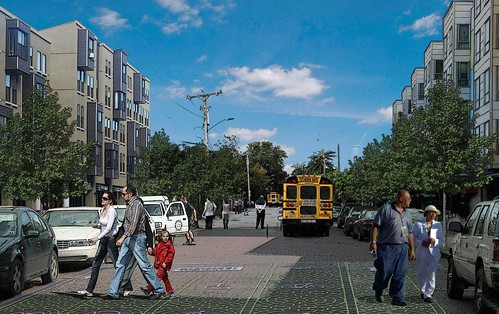 New England Avenue imagined (courtesy of Goody Clancy)