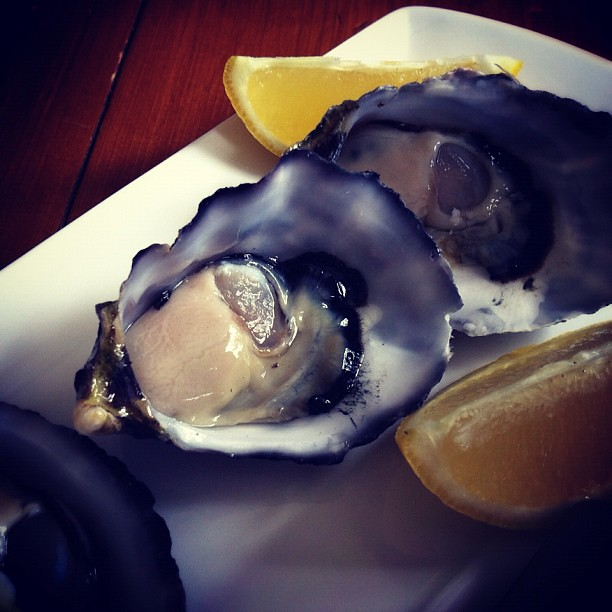 The first oysters I ever did eat. #oysters #nothalfbad