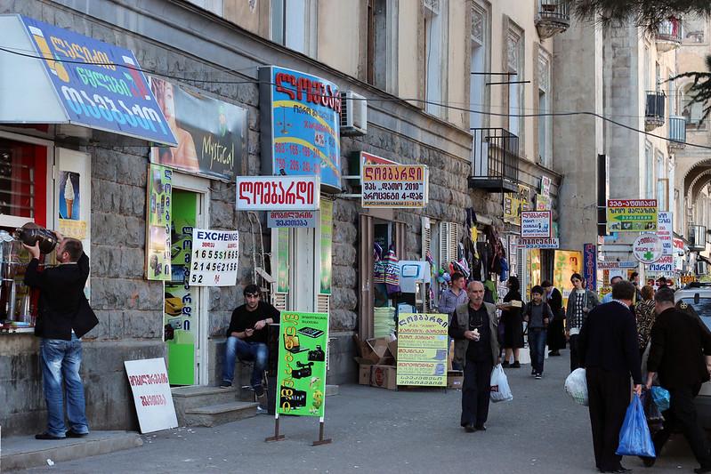 Street scene in Tbilisi, Georgia