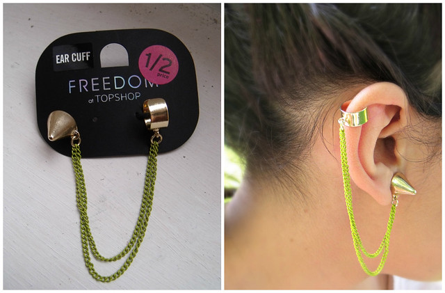Green Ear Cuff Topshop
