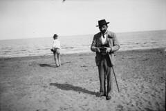 Två män på en strand