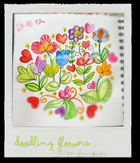 Doodling flowers