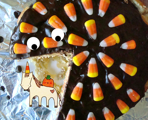 Candy Corn boston cream pie