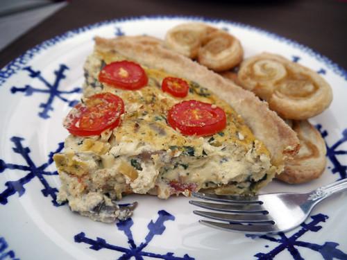Spinach Mushroom Quiche (0039)
