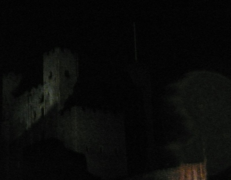 Rochester Cathedral at night
