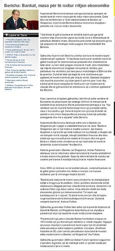 Berisha: Bankat, masa për të nxitur rritjen ekonomike